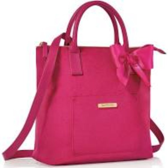 Juicy Couture Pink Velvet Tote Backpack Combo